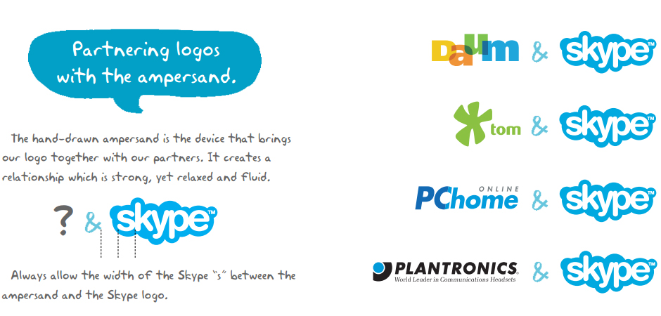 Skype брендбук