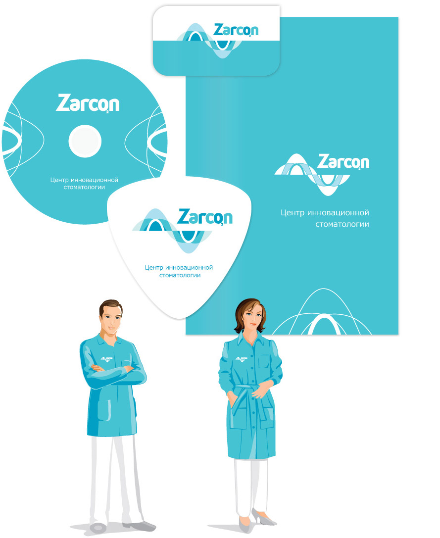 Логотип на медицинском халате