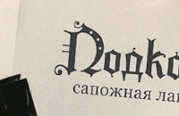 Разработка логотипа для магазина. Подкова.