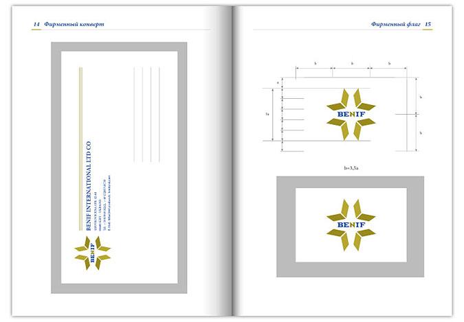 Разработка фирменного конверта, фирменной визитки