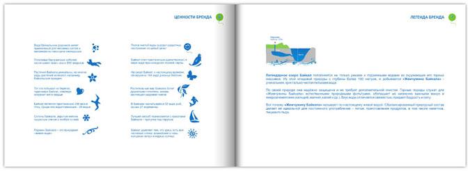 Дизайн бренд бука для торговой марки воды