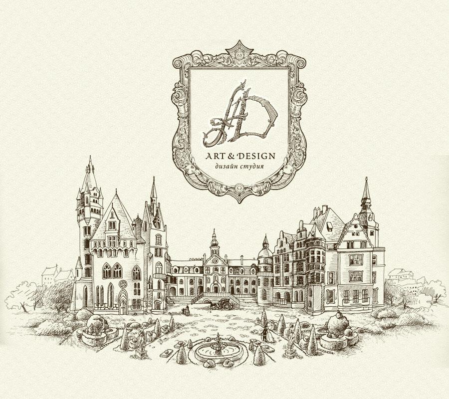 Разработка логотипа студии дизайна интерьеров, создание логотипа архитектурного бюро