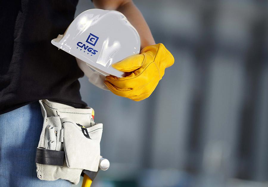 Дизайн логотипа строительной морской компании