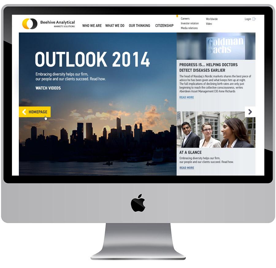 Разработка дизайна сайта для финансовой компании
