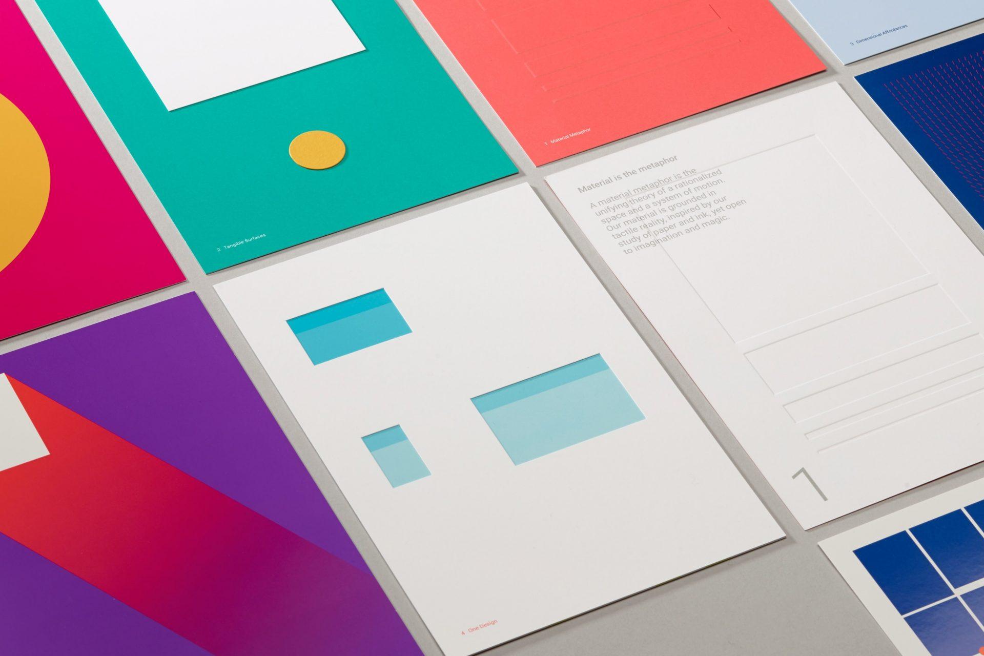 Создание дизайна в стиле материальный дизайн
