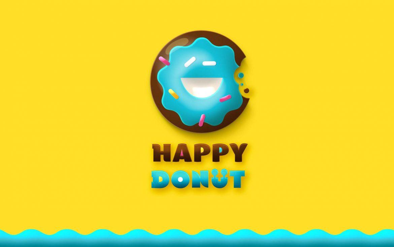 Логотип для донатс Donut logo