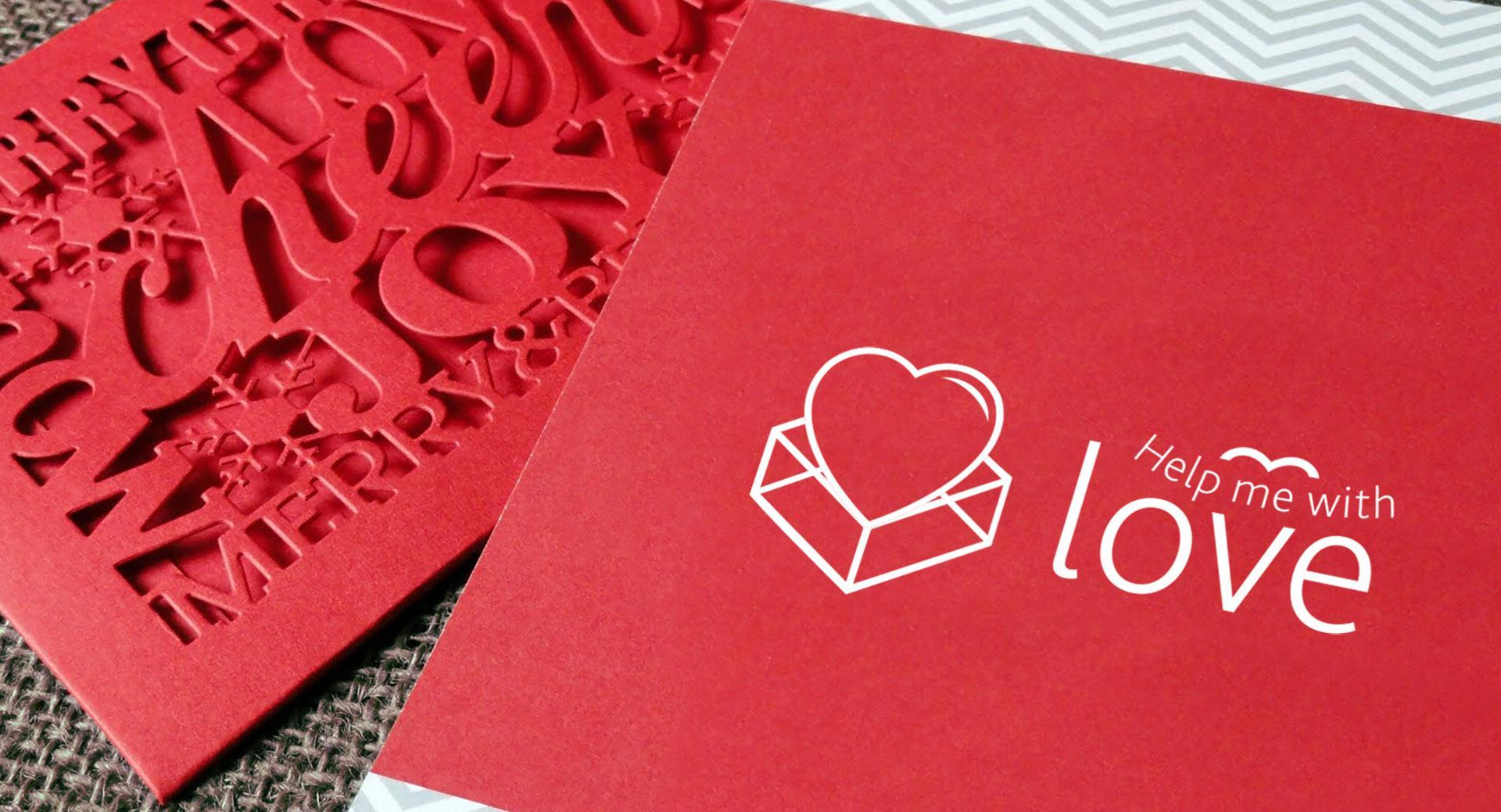 Дизайн логотипа в виде сердца для магазина подарков
