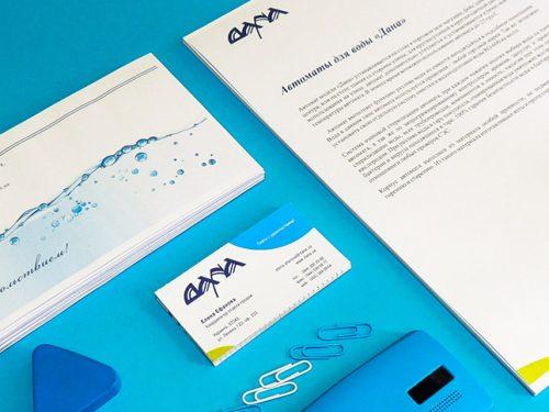 Создание брендбука для производителя воды, Water company brandbook