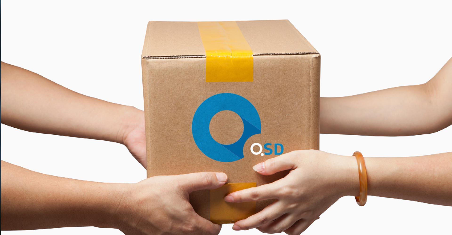 дизайн упаковки для службы доставки