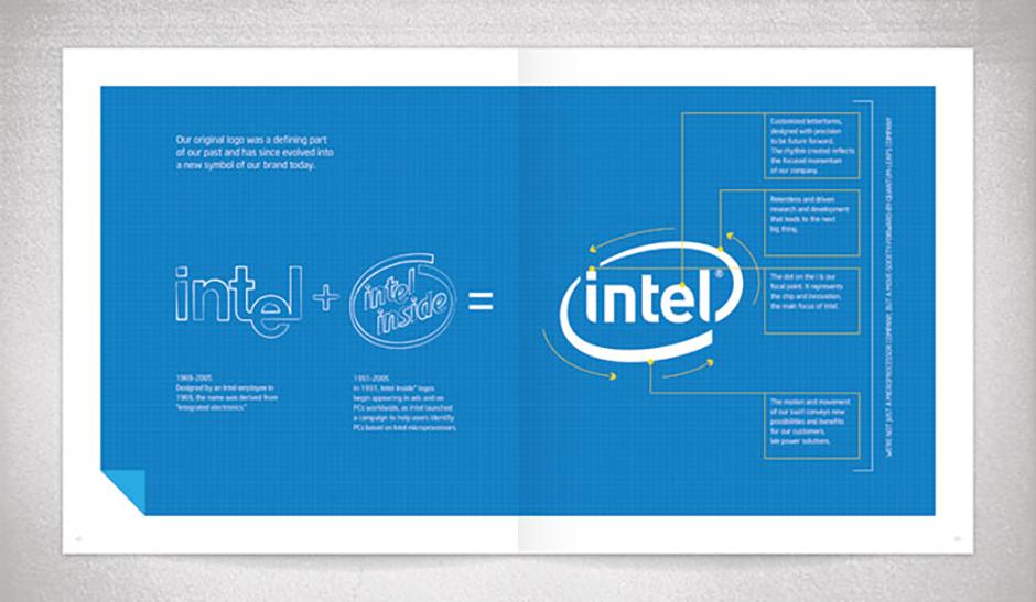 разработка логотипа Intel