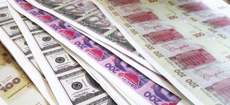 деньги, гривны, доллары