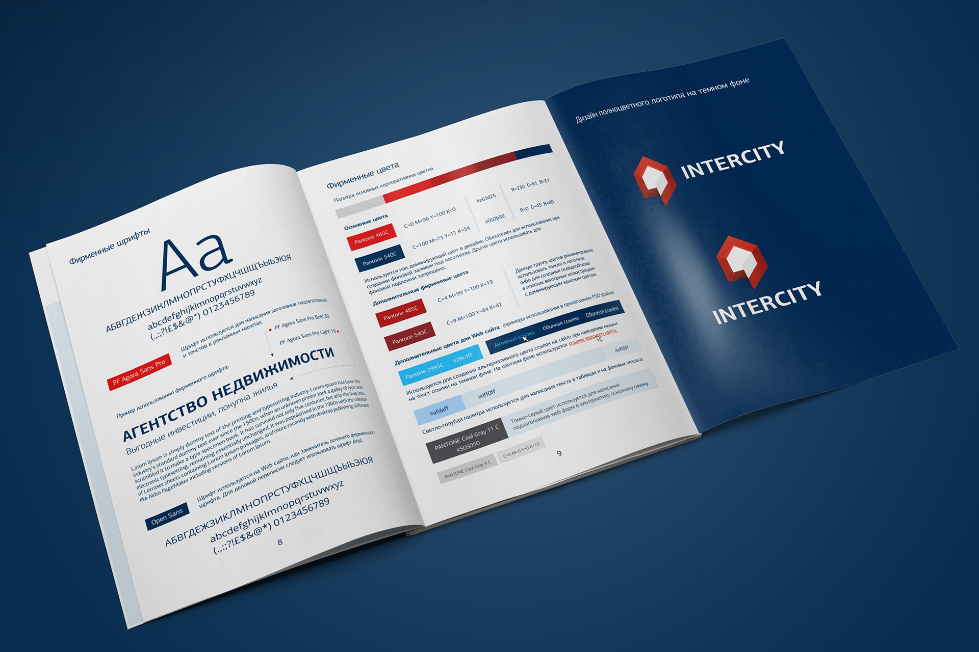 Брендбук агентства недвижимости, brand book, logo desing for real estate agency, polygraphy