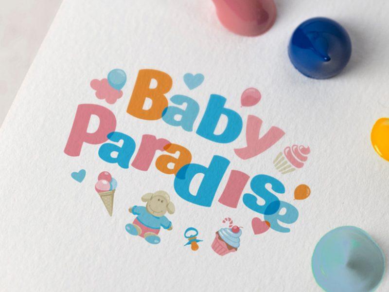 Дизайн логотипа для детского магазина