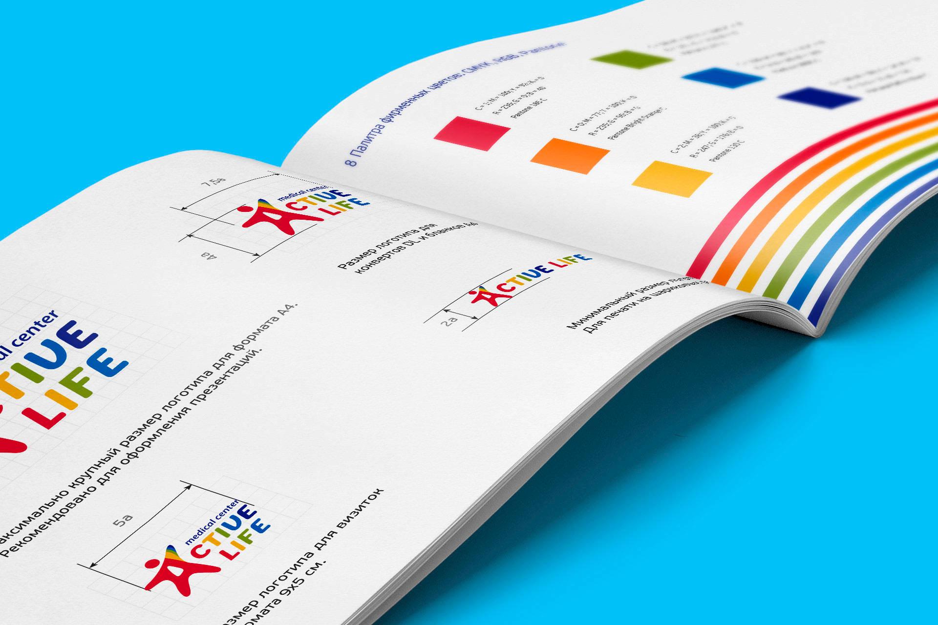 Дизайн брендбука для медицинского центра, Brand book design for medical center