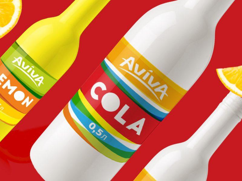Дизайн этикетки сладкой воды, Sweet soda label design