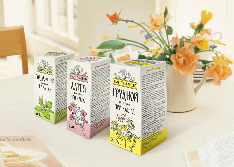 Медицинская упаковка для трав ромашка, подорожник, алтея, грудной сбор Medical packaging for herbs chamomile, plantain, althea, breast-feeding