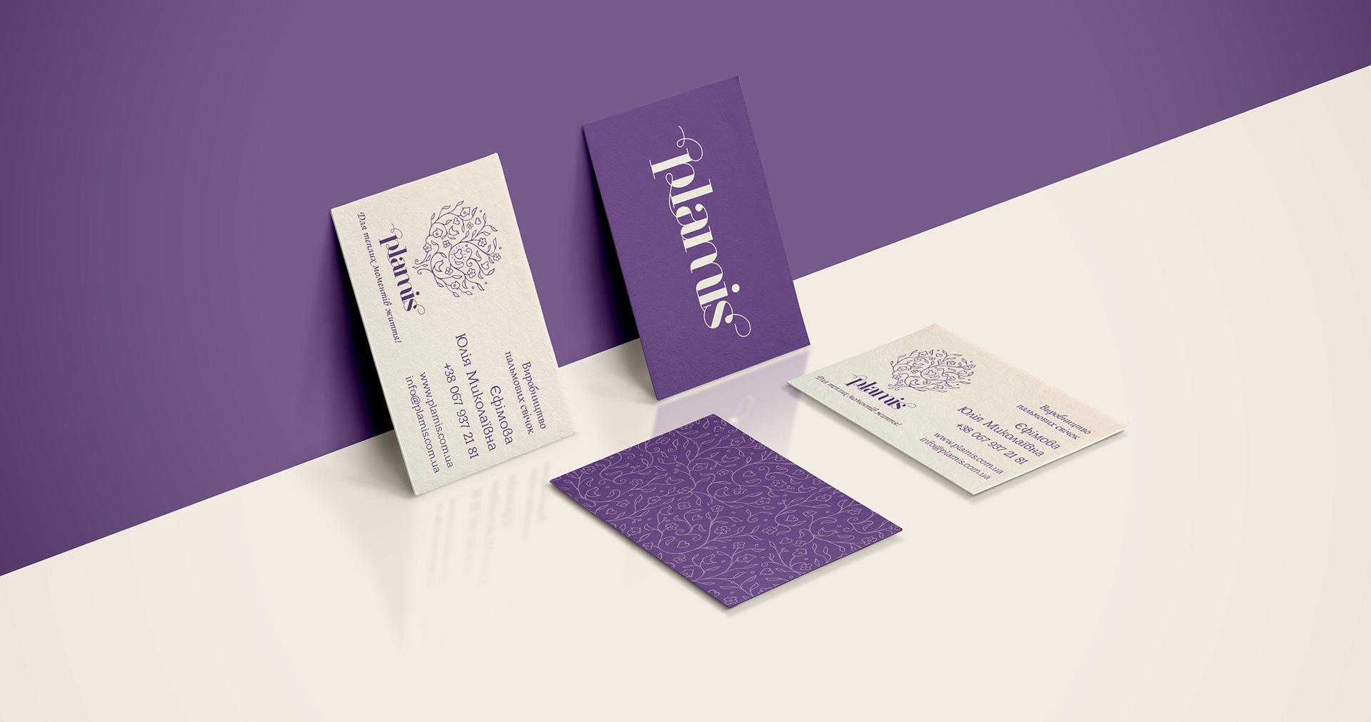 Дизайн визитки магазина свечей, Candle shop business cards design