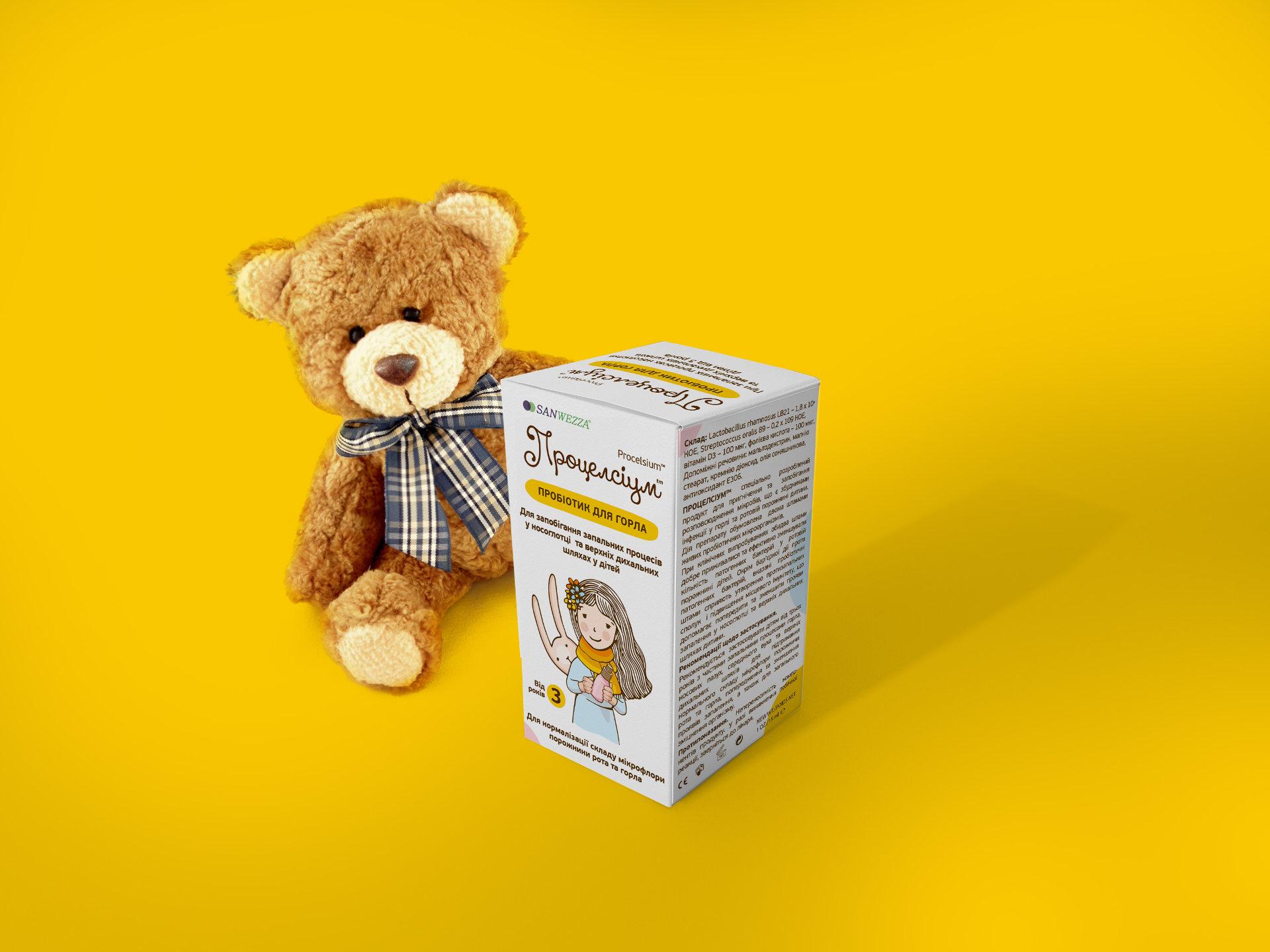 Дизайн детской медицинской упаковки Процельсиум