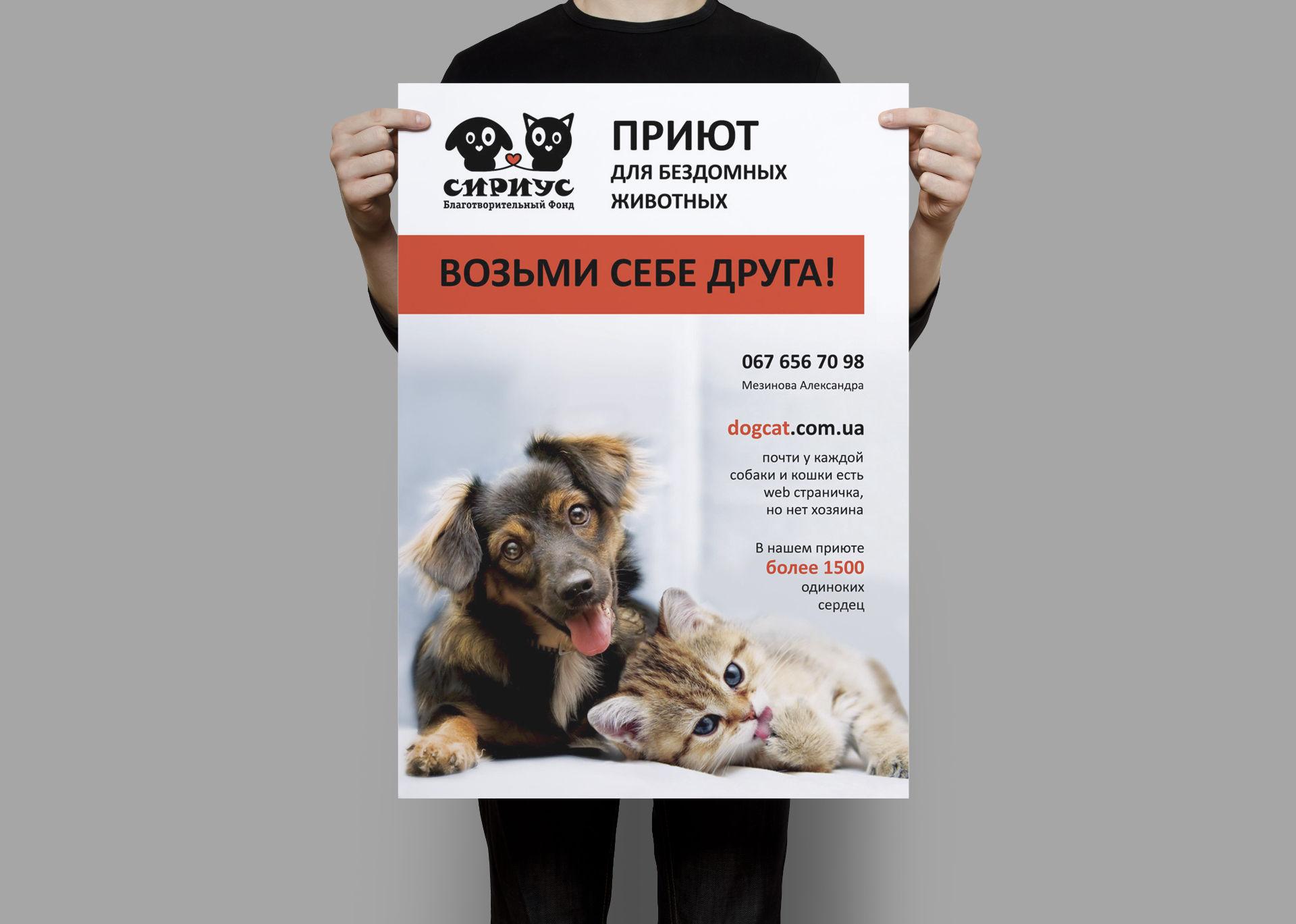 Разработка плаката для приюта домашних животных, Animal_shelter_poster_design