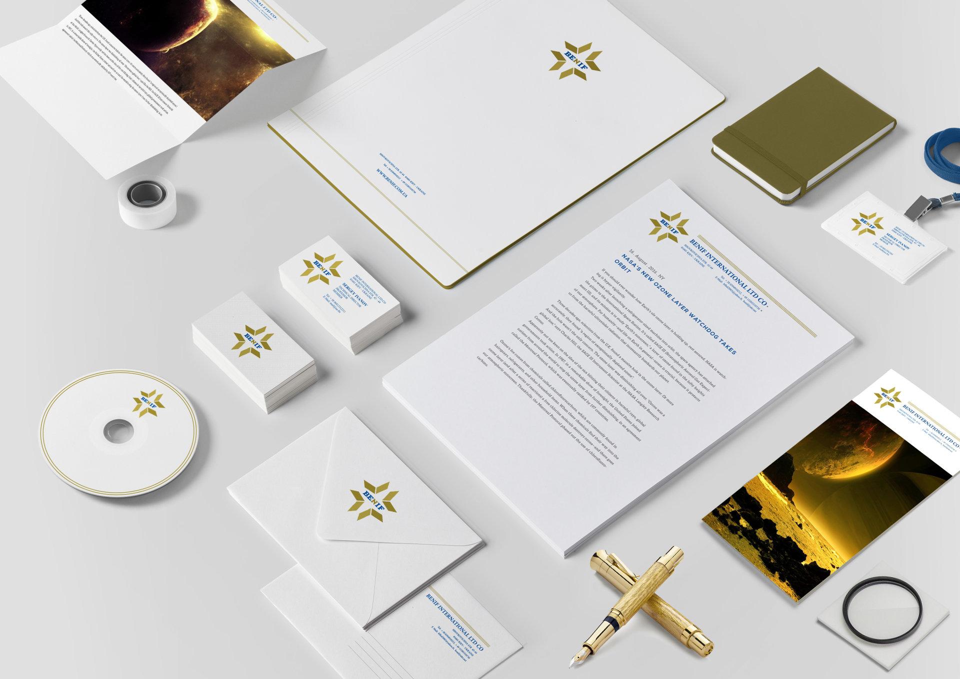 Дизайн фирменного стиля геодезической компании
