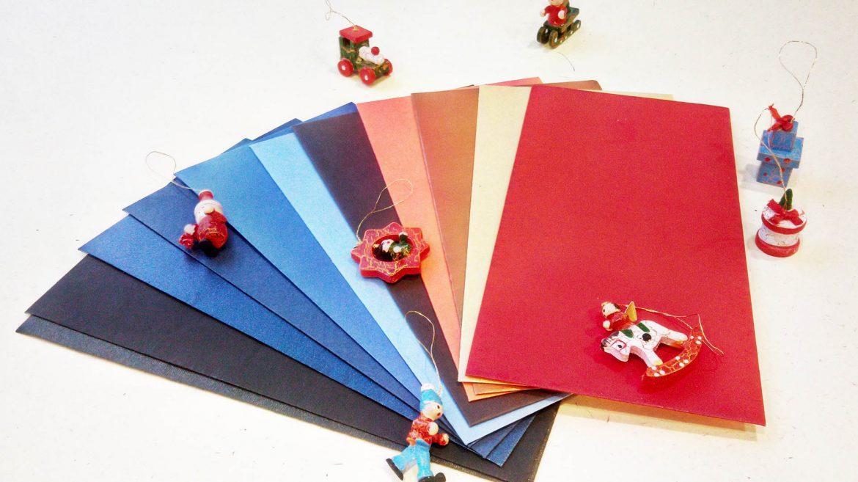 готовые дизайнерские конверты, новогодние конверты