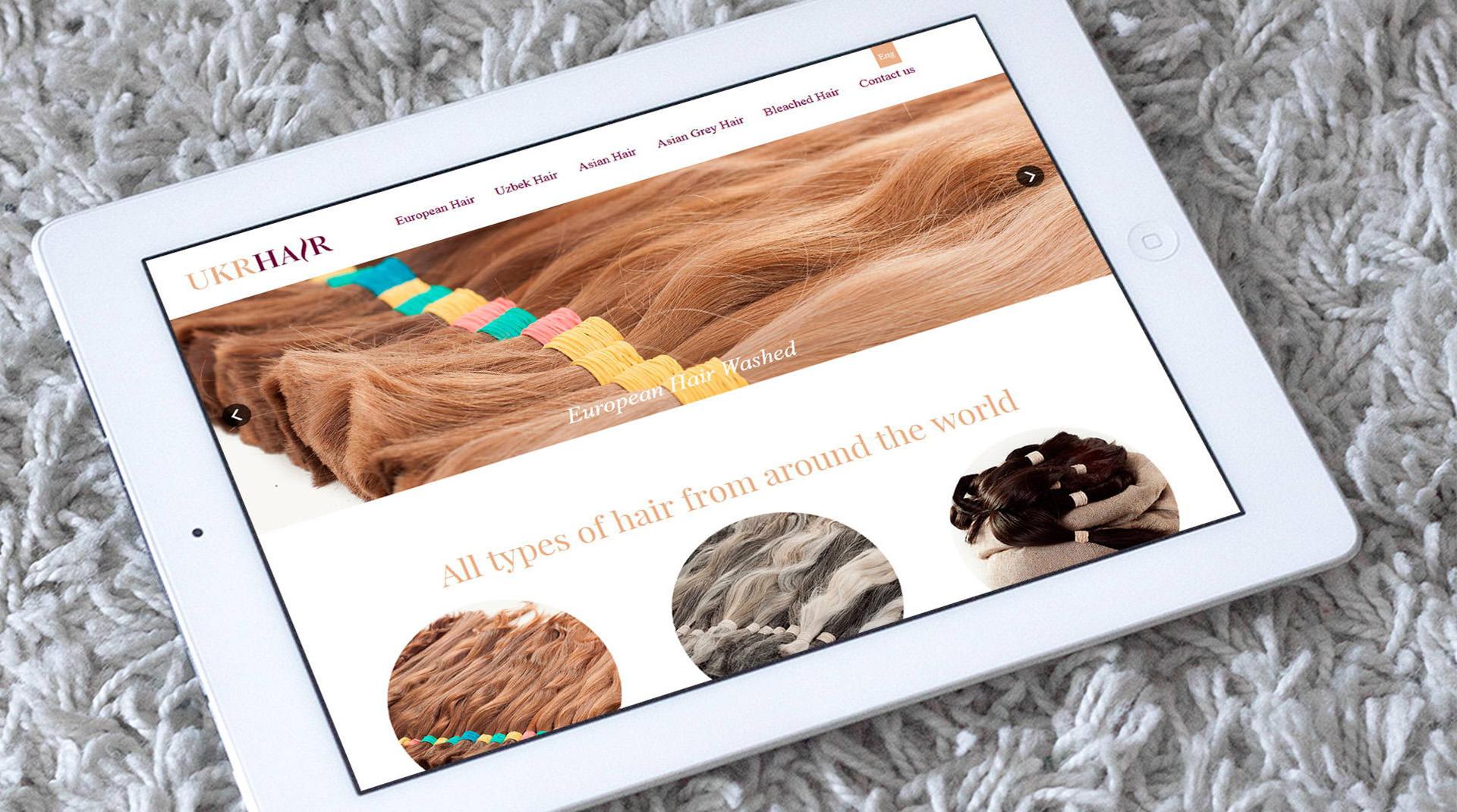 Дизайн сайта по продаже волос