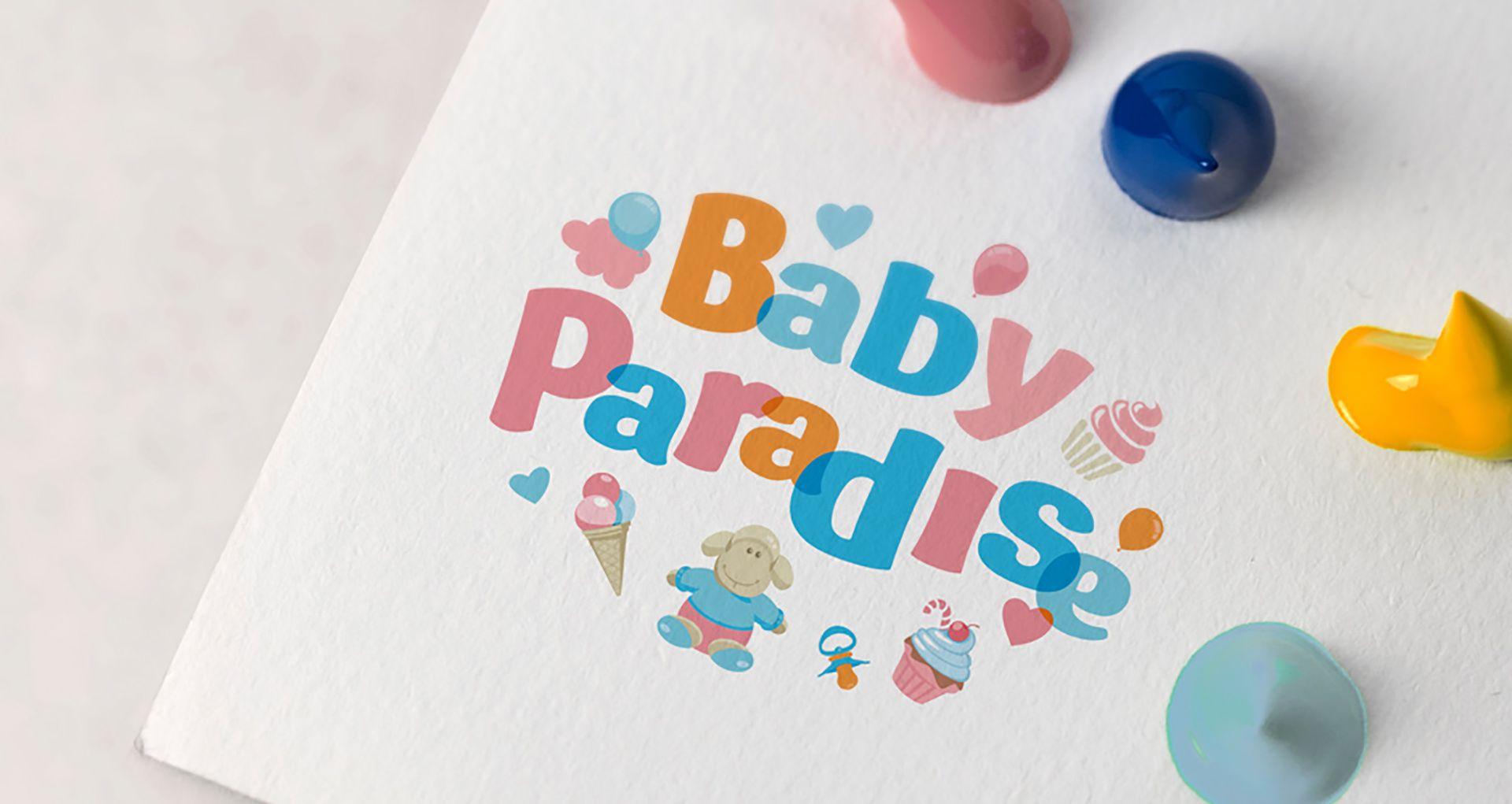 детский логотип baby paradise интернет магазин