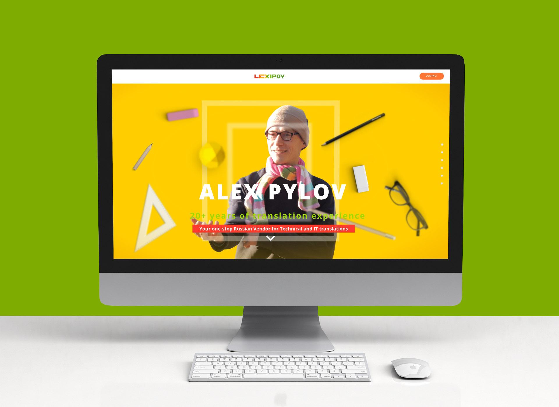Дизайн сайта переводчика английского языка