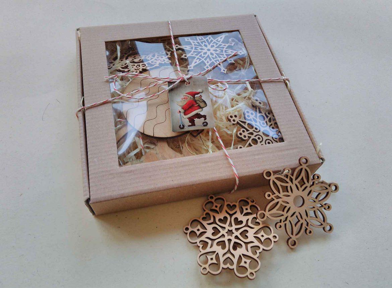 деревянные игрушки подарок на новый год эко