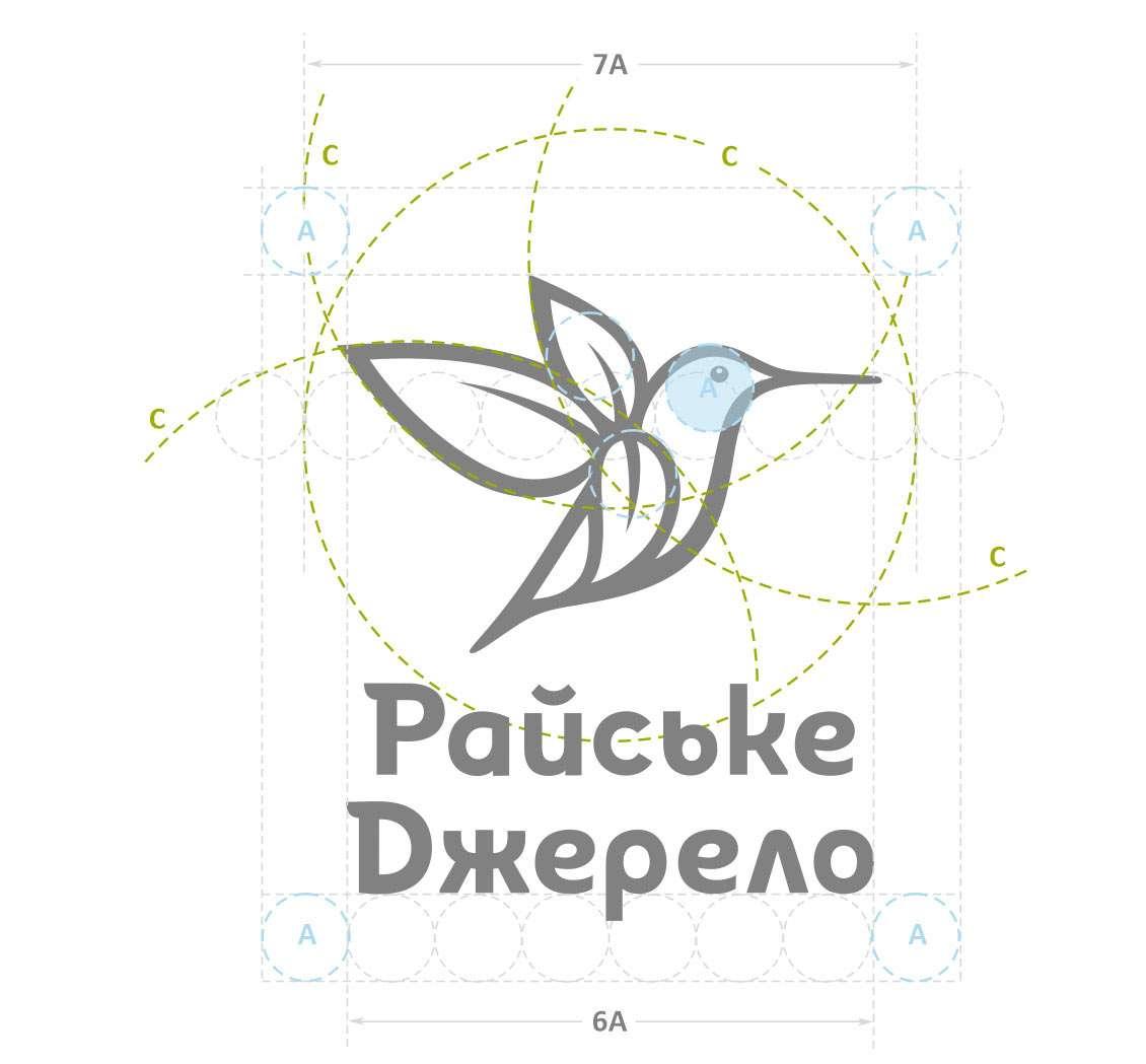 дизайн логотипа вода Райське Джерело
