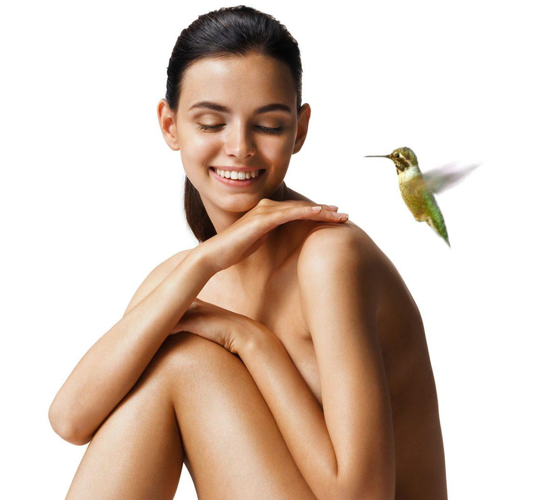 колибри и женщина