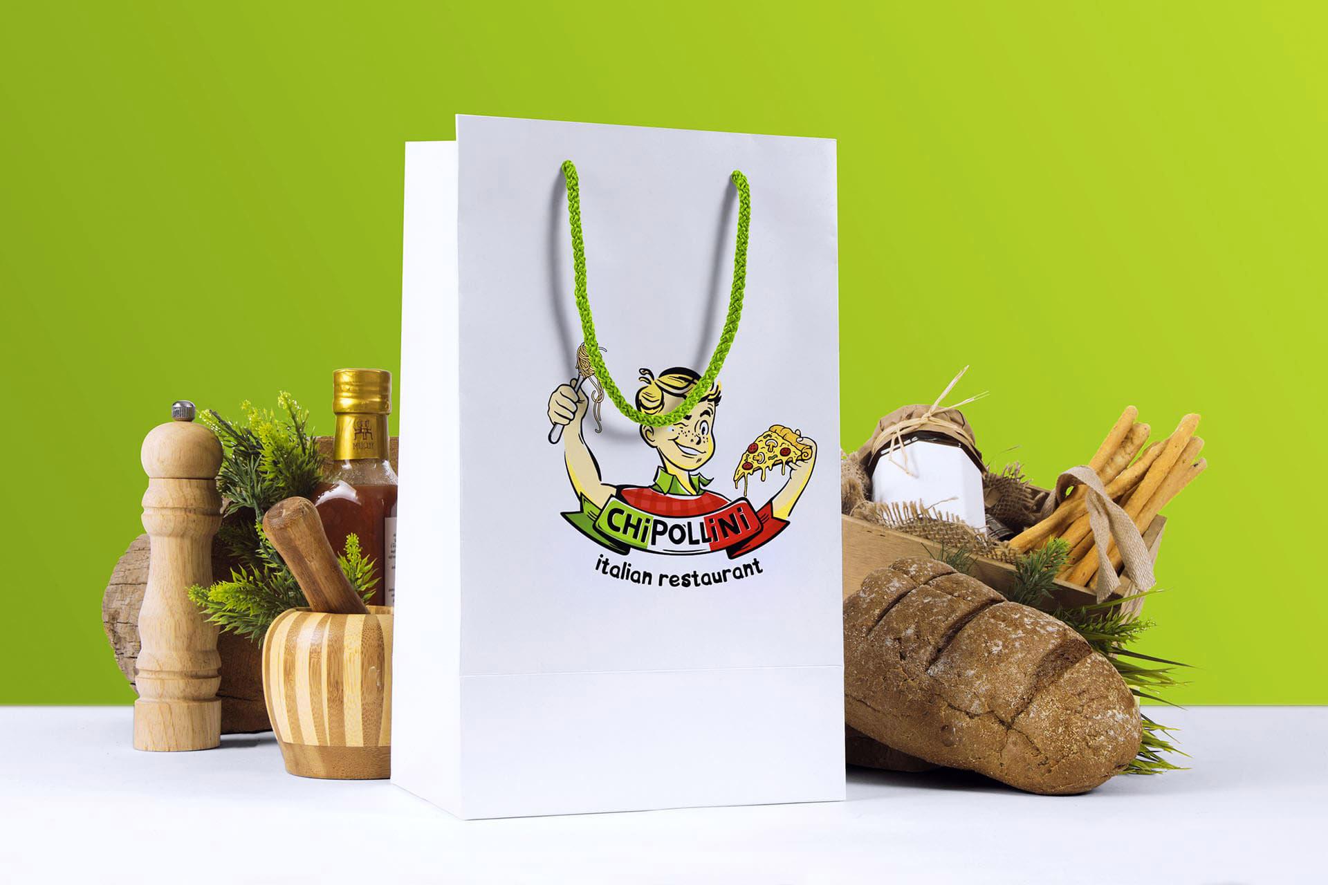 логотип итальянского ресторана Чиполлини