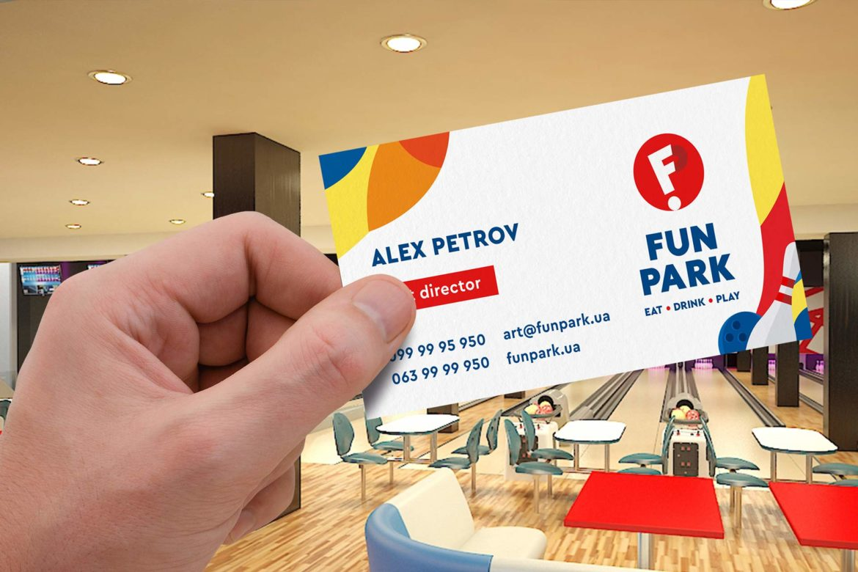 дизайн визитки развлекательного центра Fun Park