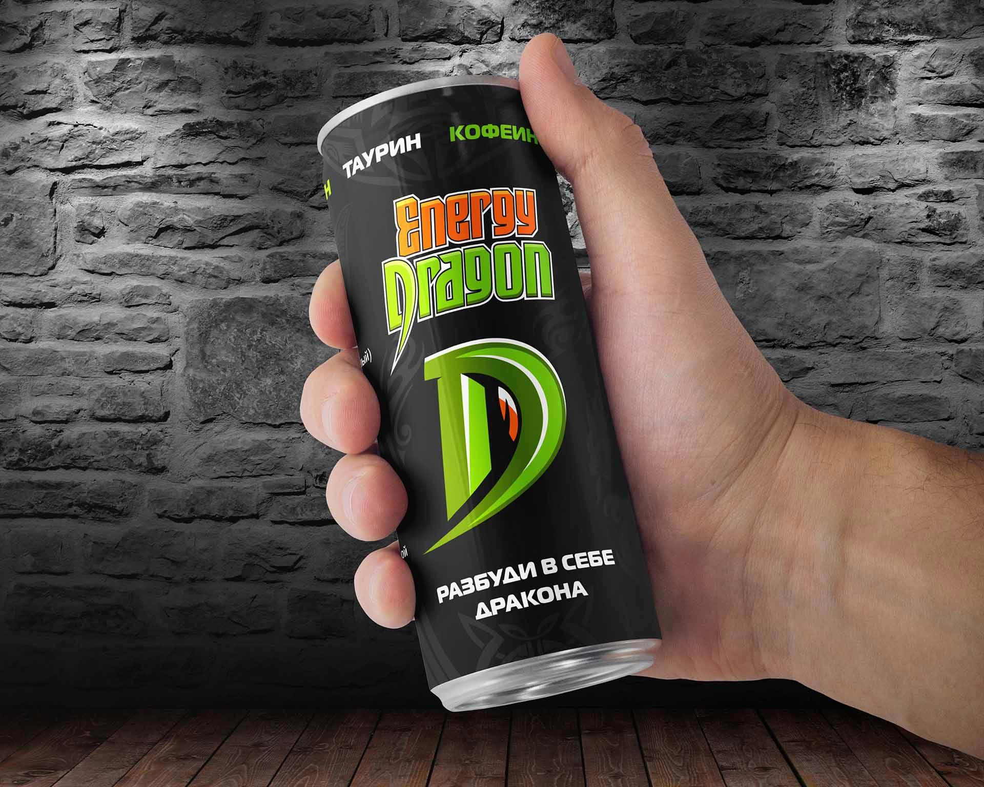 Дизайн банки для энергетика Energy Dragon