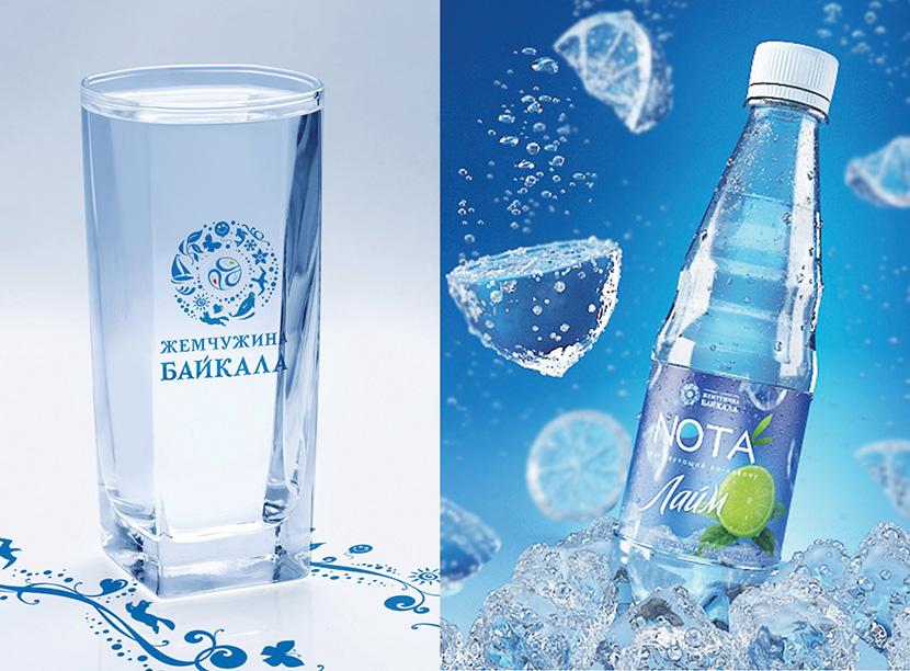 дизайн этикетки и брендбук для воды Жемчужина Байкала