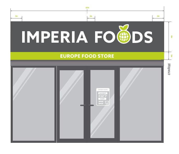 дизайн витрины продуктового магазина