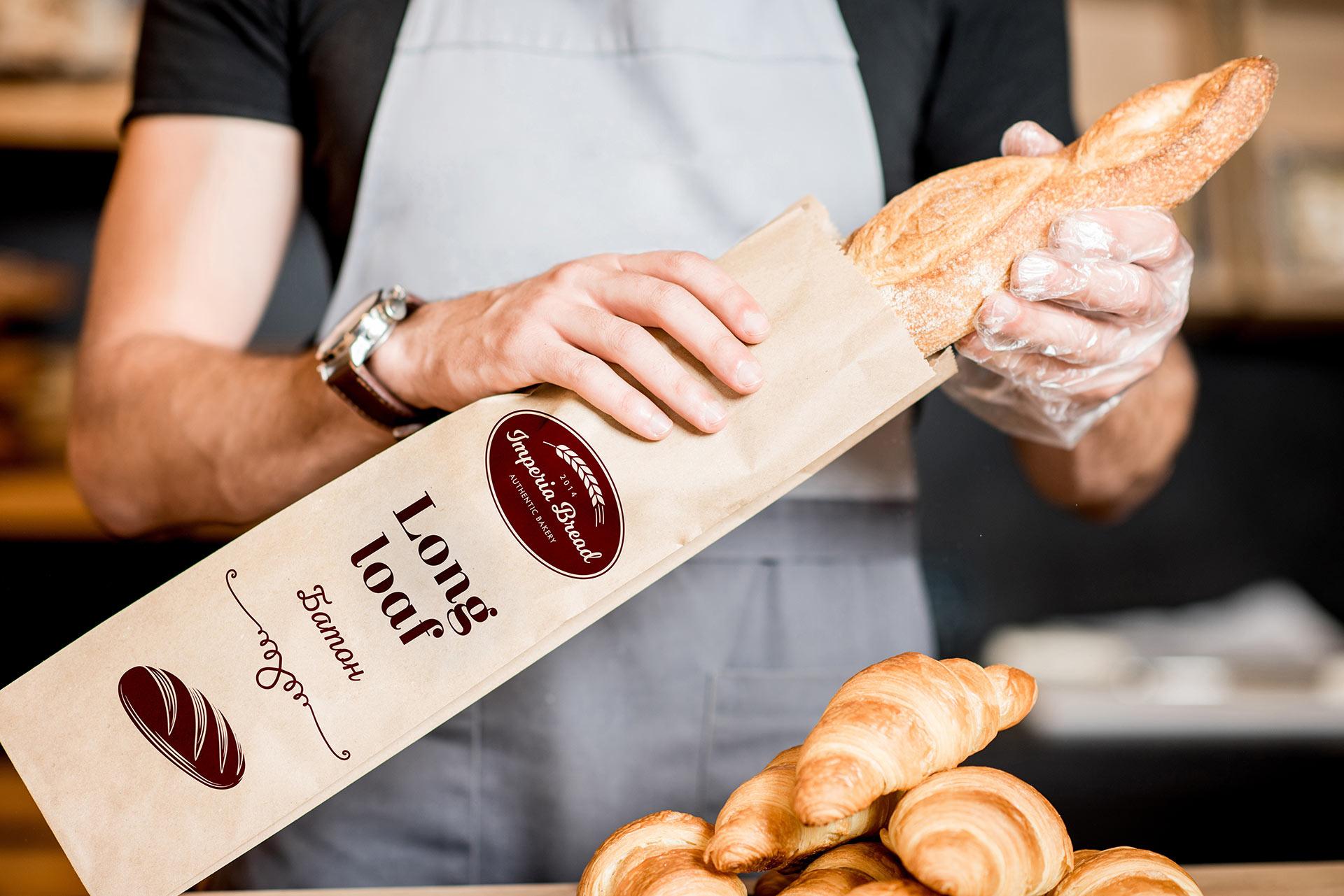 создание упаковки для хлеба