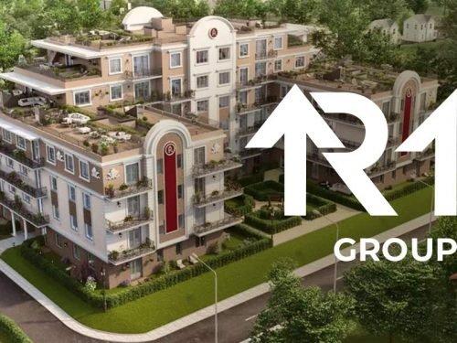 Разработка логотипа строителльной компании R1