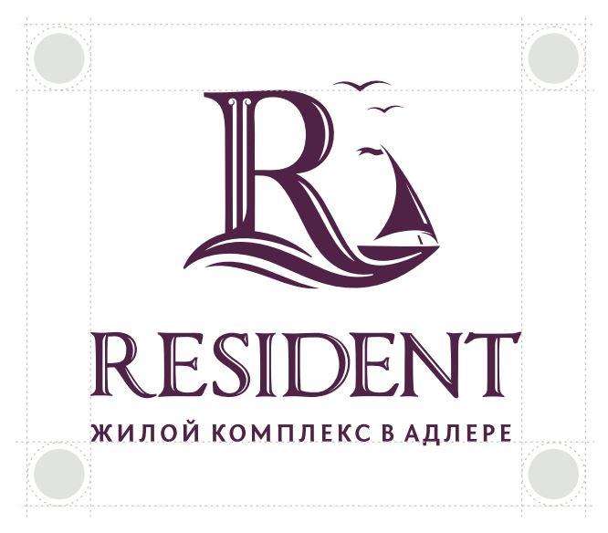 Логотип жилищного комплекса «Resident»