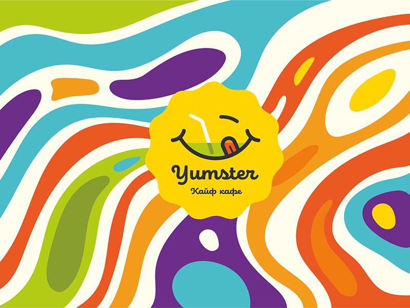 Создание логотипа кафе «Yumster»