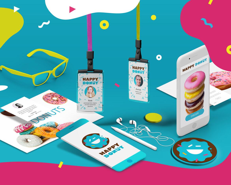 Разработка логотипа Happy Donuts