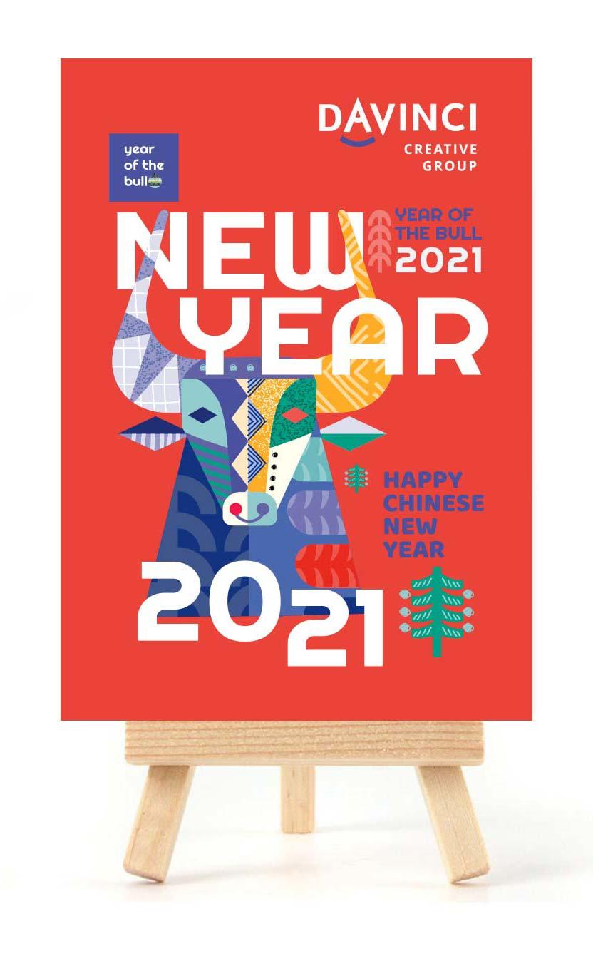 креативный настольный календарь мольберт с годом быка