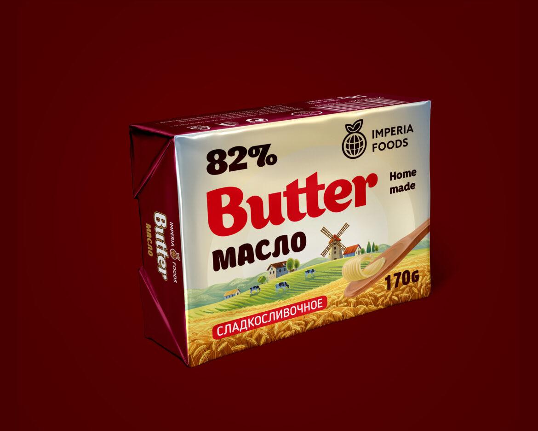 дизайн упаковки для сливочного масла