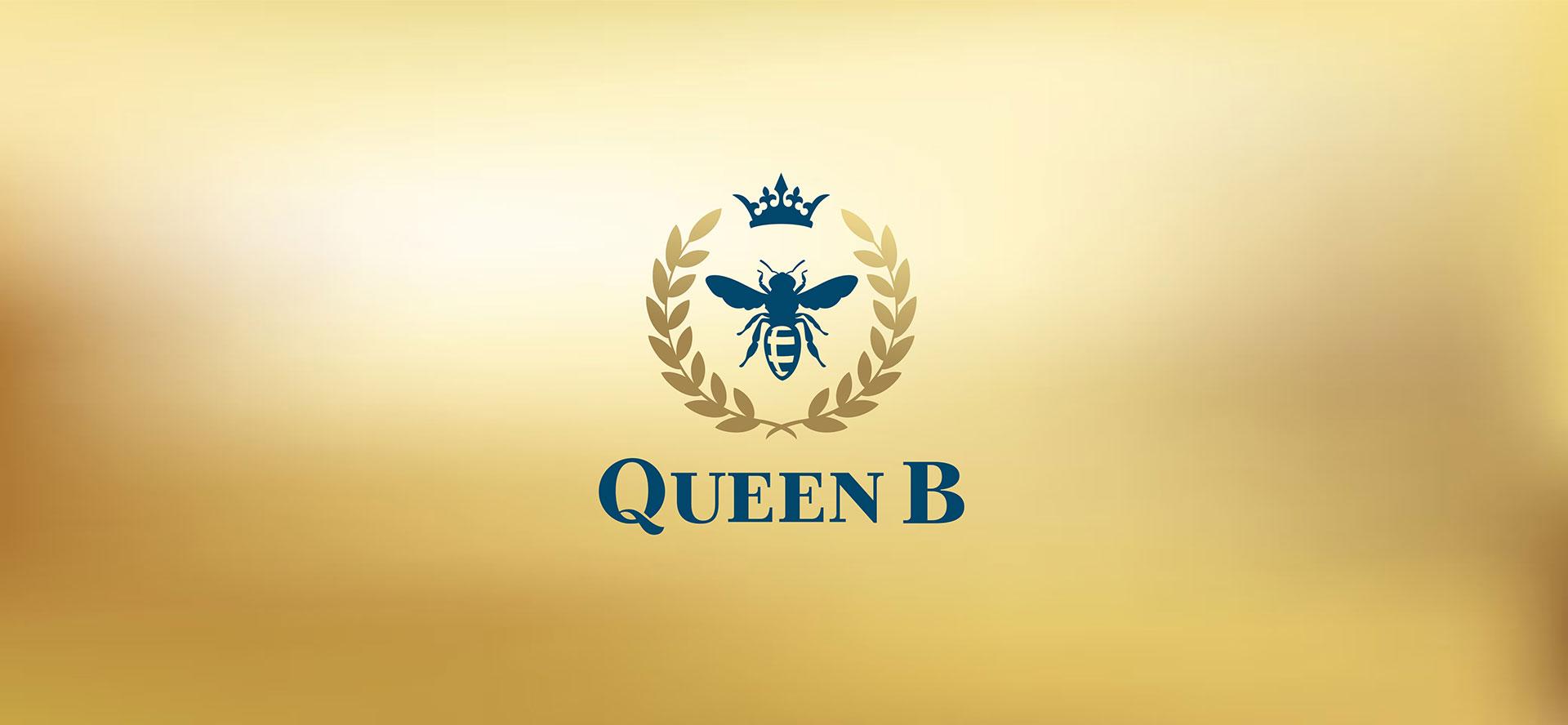 Queen B логотип отеля пчела корона венок