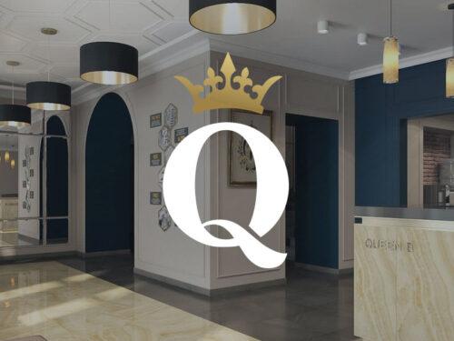 """логотип отеля """"Queen B"""" Киев"""