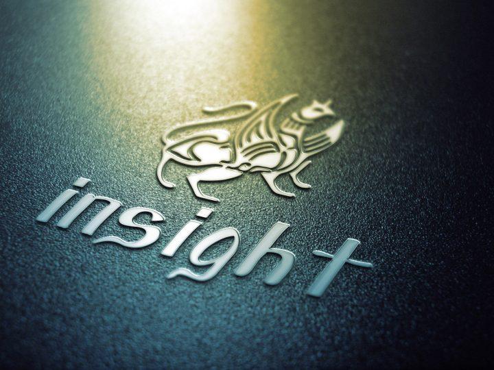 Дизайн логотипа книжного магазина Insight
