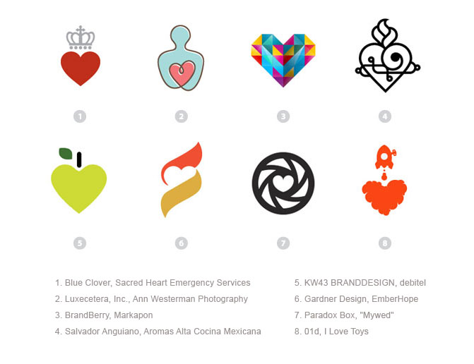 Разработка логотипа в форме сердца