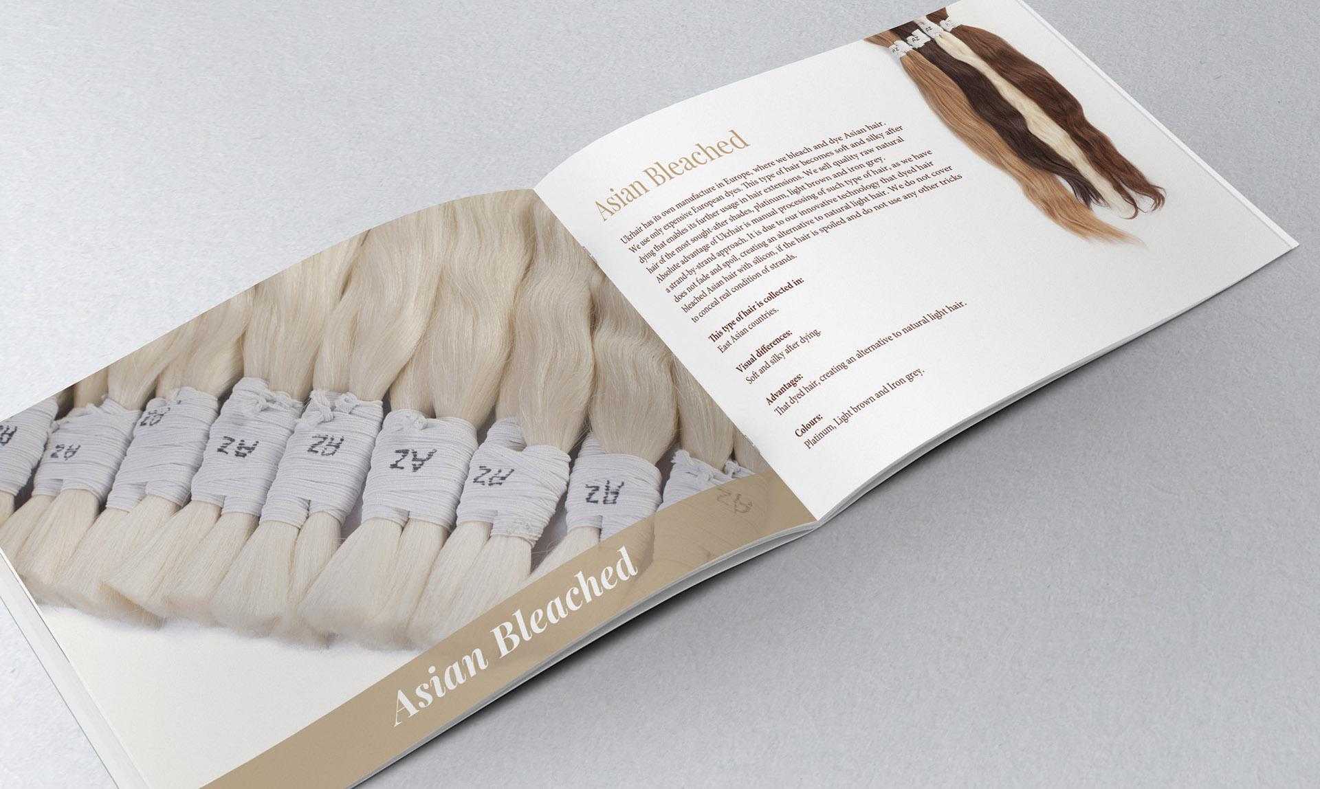 Разработка дизайна каталога для волос