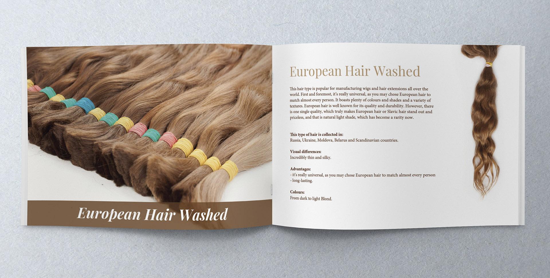создание дизайна каталога для волос