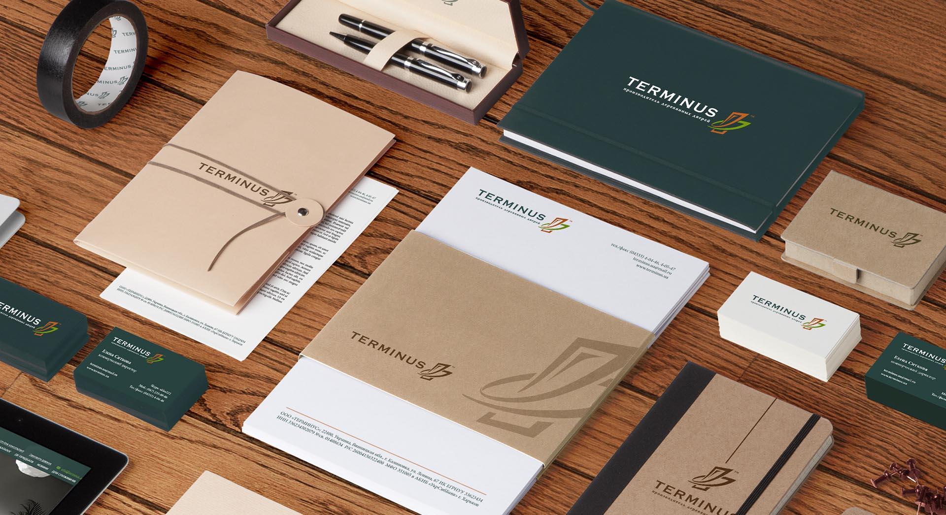 Разработка фирменного знака и брендбука производителя дверей Terminus